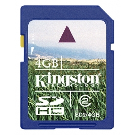 TARJETA DE MEMORIA KINGSTON TECHNOLOGY 4GB SDHC CLASS 2 FLASH CARD